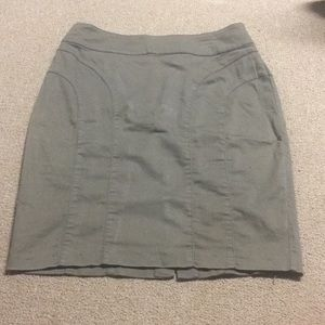 H&M Pencil Skirt army green/brown